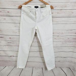 NYDJ Skinny Ankle Jeans White 2